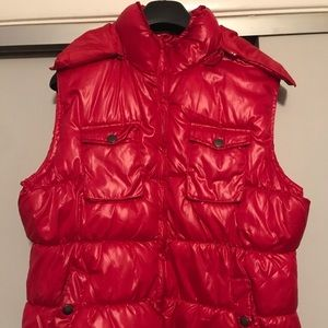 Faded Glory Puffer vest with hood